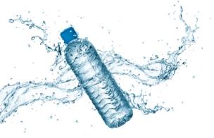 water bottle with splash